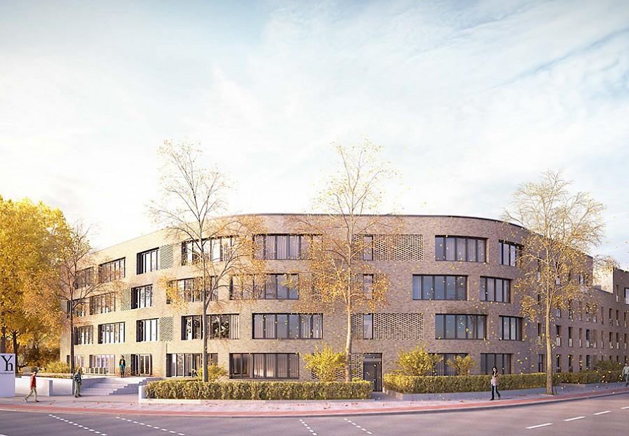 Unsere zukünftige Heimat – das YorkHouse an der Steinfurter Straße, Ecke York-Ring, in Münster